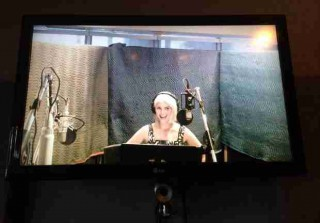 Glee Season 6: Dianna Agron Is Back on Set, in the Recording Studio! (PHOTO)