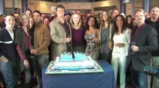 Castle\'s Nathan Fillion Thanks Cast at 100th Episode Celebration
