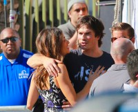 *EXCLUSIVE* Nikki Reed and Ian Somerhalder cozy up for 'Teen Choice Awards' arrival