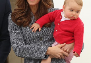 Prince George Makes First Buckingham Palace Balcony Appearance