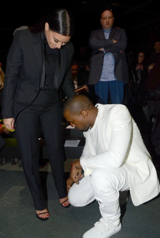 Kim Kardashian and Kanye West Dressed In All Black and All White Head to the Givenchy Fashion Show