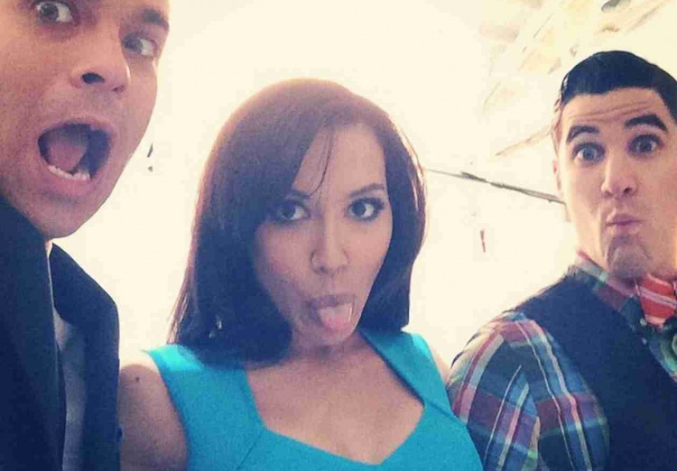 w630_Mark-Salling-Naya-Rivera-and-Darren-Criss-Make-Funny-Faces-on-Set-1416353645