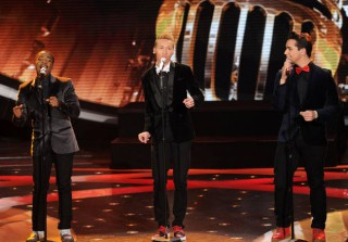 "Watch Lazaro Arbos, Burnell Taylor, and Devin Velez Sing ""I Can't Help Myself"" in Season 12 Top 8"