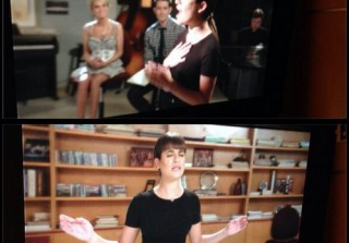Glee 100th Episode Spoiler: First Look at Rachel\'s Song (PHOTOS)