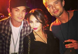 Pretty Little Liars Reunion! Janel Parrish, Tyler Blackburn, and Drew Van Acker Go to #ScaryFarm