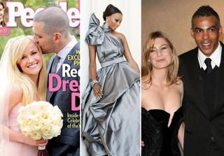 15 Celebrity Brides Who Didn't Wear White to Their Weddings (PHOTOS)