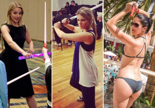 Celebrities With Lightsabers: Fun With the Force! (PHOTOS)