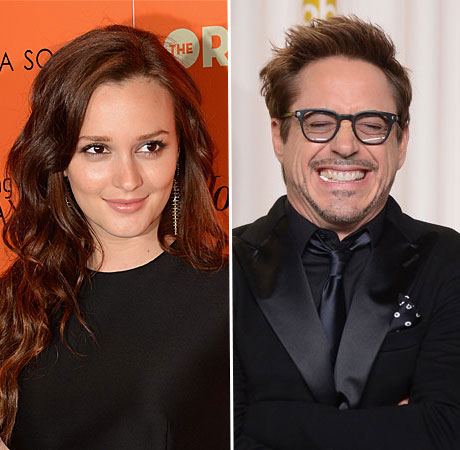 Why Is Leighton Meester Making Out With Robert Downey Jr