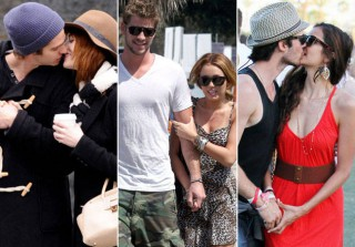 Sexy Celebrity PDA: 28 Star Couples Caught Canoodling (PHOTOS)