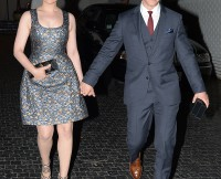 Ginnfer Goodwin and Josh Dallas leave the Vogue Party at Chateau Marmont