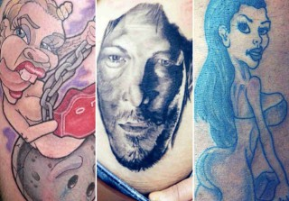 Crazy Tattoos of Celebrities — Naked Miley Cyrus, Kim Kardashian\'s Butt, and More! (PHOTOS)