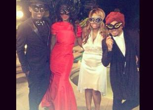 Kenya Moore Looks Red Hot as She Hosts Masquerade Ball (PHOTO)
