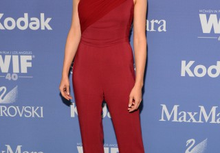 Stana Katic Rocks Skin-Tight Red Jumpsuit For Women in Film Event (PHOTOS)