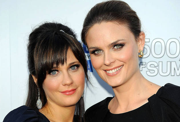 Emily Deschanel and sister