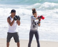 **EXCLUSIVE** Zendaya gets introduce to boxing by professional boxer Victor Ortiz in Los Angeles