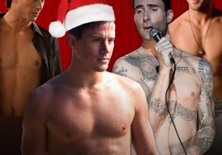 Santa's Shirtless Helpers: Happy Holidays From 25 Sexy Celebrities (PHOTOS)