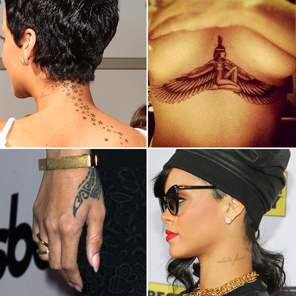 Rihanna s many tattoos isis guns stars astrology and more