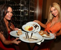 Joanna Krupa has deserts at Council Oak Steakhouse at Seminole Casino Tampa