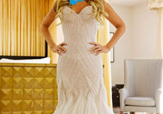 Guess the Bride! Which Reality Star Wore This Gorgeous Beaded Wedding Gown?