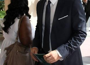 Michael Clarke Duncan\'s Funeral: Bones's Emily Deschanel and David Boreanaz Pay Their Respects
