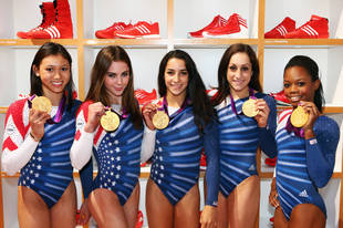 U.S. Women's Gymnastics Team Interns For Stephen Colbert (VIDEO)