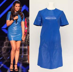 Blue v white dress khloe