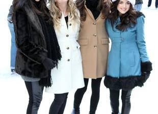 Get Lucy Hale\'s Beautiful Blue Coat
