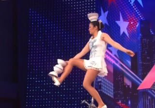 America's Got Talent Audition: Rong Niu Juggles Bowls on a Unicycle!