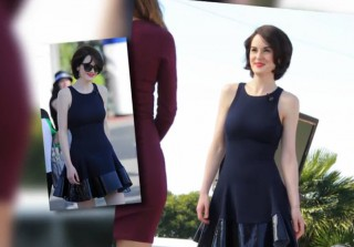 Downton Abbey\'s Michelle Dockery Shows Off Sexy Long Legs (VIDEO)