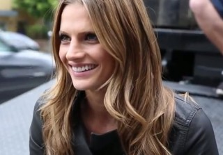 Stana Katic Encourages People to Take Public Transportation