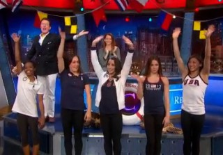 The U.S. Women\'s Gymnastics Team Make Surprise Appearance On The Colbert Report