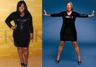 Who Wore It Best? Amber Riley vs. Queen Latifah in Donna Morgan