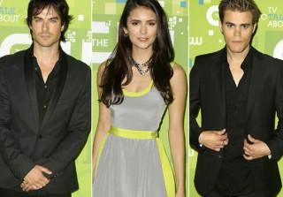 Photos! Ian Somerhalder, Nina Dobrev, and Paul Wesley Get Dressed up for the 2011 CW Upfront