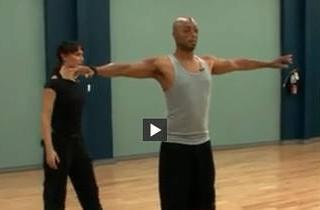 Watch! Karina Smirnoff & JR Martinez Glide Through First DWTS Rehearsal