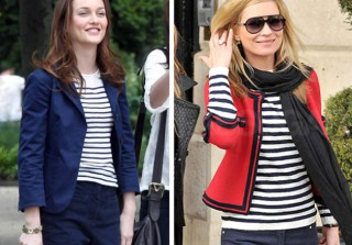 Who Wore It Best? Leighton Meester vs. Kate Moss, Nod to Nautical