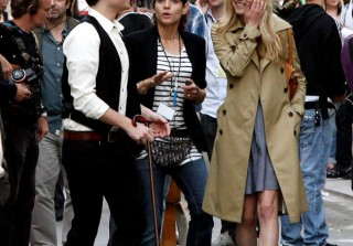 Gossip Girl on Set in Paris on July 6, 2010