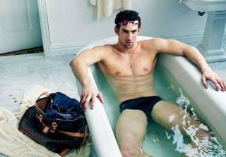 Speedo-Clad Michael Phelps Gets Wet in New Louis Vuitton Ad (PHOTO)
