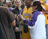 Kyle Massey signs autographs for fans in Los Angeles