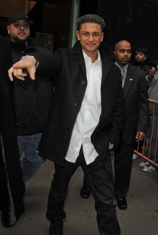 """The """"Jersey Shore"""" cast drops by the """"Good Morning America"""" studios, NYC"""