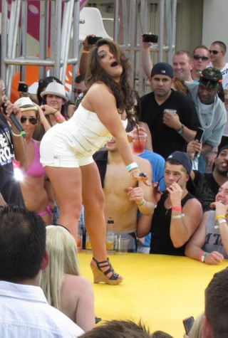 Deena Nicole and Pauly D from Jersey Shore rock day one of MTV Spring Break in Las Vegas