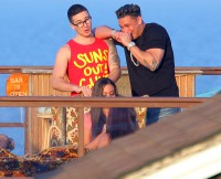 The cast of 'Jersey Shore' celebrate the first day of filming together with party on roof
