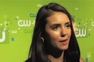 Ian Somerhalder and Paul Wesley Crash Nina Dobrev\'s Interview At the CW Upfront