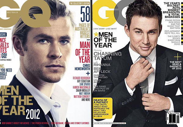 Chris Hemsworth vs. Channing Tatum: Whose GQ Man of the Year Cover Is Hotter?