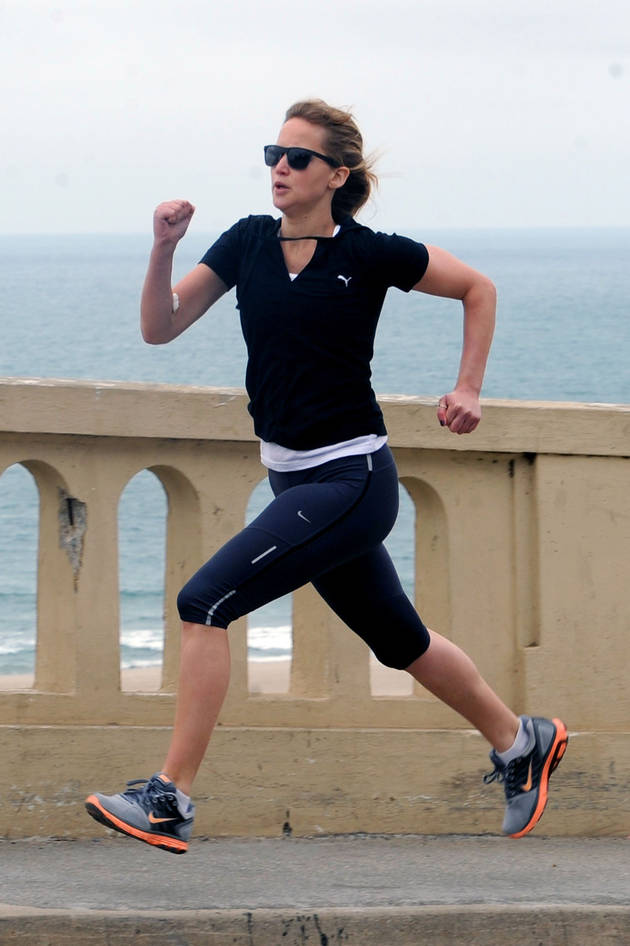 Jennifer lawrence running